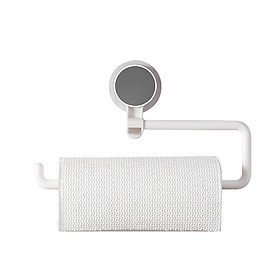 Wall Mounted Paper Towel Holder Strong Adhesive Multifunction Rotatable Roll Organizer for Kitchen Bathroom Living Room