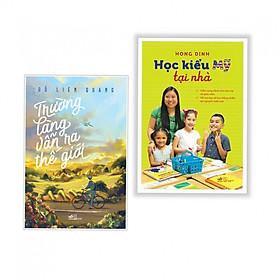 Combo 2 cuốn  Trường Làng Vẫn Ra Thế Giới+Học Kiểu Mỹ Tại Nhà ( Tặng kèm bookmark thiết kế)