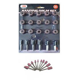 Bộ 51 mũi giáp tròn đánh nhám đánh nhẵn tặng kèm 10 đá mài mini sử dụng cho máy khoan mài khắc mini đa năng