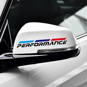 Bộ 2 tem dán gương chiếu hậu ô tô Performance 02