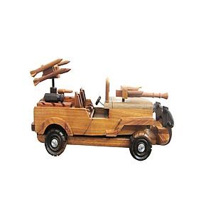 Mô hình xe gỗ zeep chiến đấu