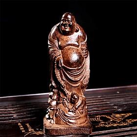 Tượng phật bằng gỗ khắc chữ maitreya