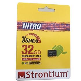 Thẻ Nhớ MicroSD 32Gb Strontium Class 10 Up to 85Mb/s - Hàng Chính Hãng