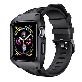 Ốp Case Thinfit Armor & Dây Cao Su cho Apple Watch Series 4 / Apple Watch Series 5