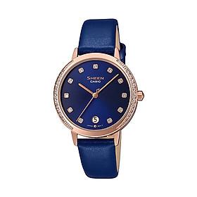 Đồng hồ nữ dây da Casio Sheen chính hãng SHE-4056PGL-2AUDF