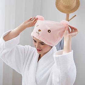 Mũ Bông Trùm Đầu Khi Tắm Rửa Mặt Ủ Dưỡng Tóc Tươi Sáng Đáng Yêu