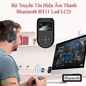 Thiết bị thu phát nhạc không dây VINETTEAM BT11 Bluetooth 5.0 với màn hình hiển thị LCD 3.5mm AUX -hàng chính hãng