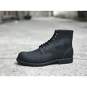 Giày nam cao cổ da bò sap beckman boots black