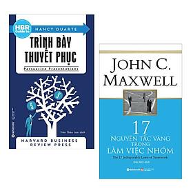 Combo 2 Cuốn Sách Kỹ Năng Làm Việc Hay Để Thành Công: HBR Guide To – Trình Bày Thuyết Phục (Tái Bản 2018) + 17 Nguyên Tắc Vàng Trong Làm Việc Nhóm (Tái Bản 2018) / Tặng Kèm Bookmark Happy Life