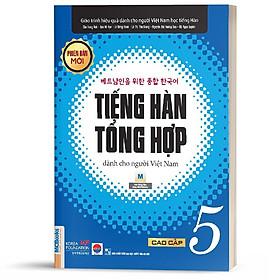 Sách - Giáo trình tiếng Hàn tổng hợp cao cấp 5 – bản đen trắng (phiên bản mới)  ( tặng kèm bookmark thiết kế)