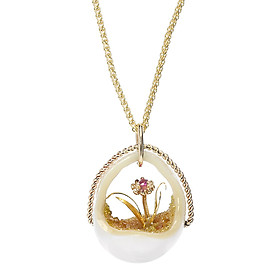 Dây Chuyền Galatea Jewelry Pearltanical Garden PL-108 - Trắng