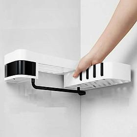 Kệ 2 tầng đựng đồ dùng nhà tắm, nhà bếp, dán góc tường tiện dụng