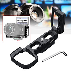 Aluminum Quick Release L Plate/Bracket Hand Grip Holder For SONY A6400 Camera