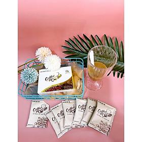 1 hộp 10 gói CÀ PHÊ hỗ trợ giảm cân HÒA TAN CQ COFFEE 3IN1 Thái Lan ( Chanel Châu )