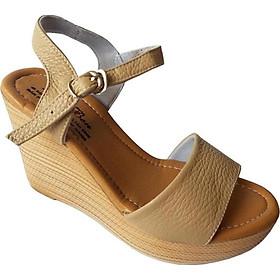 Giày Sandal Đê Xuồng Nữ BIGGBEN Da Bò Thật SDX05