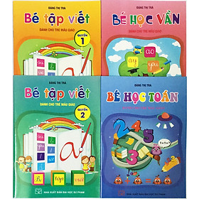 Combo Bé Học Vần và Bé Tập Viết (tặng kèm 1 tờ 36 hình dán ngôi sao)