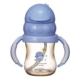 Bình Uống Nước Có Tay Cầm Nhựa PPSU KuKu KU5881A - 140ml
