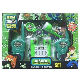 Bộ đồ chơi phụ kiện thám hiểm, bộ đàm điện thoại, ống nhòm và la bàn của búp bê Ben 10 (sử dụng pin)