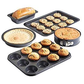 Combo 5 Khuôn Làm Bánh Và Khay Nướng Bánh Cao Cấp