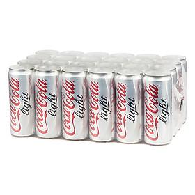 Lốc 24 Lon Nước Giải Khát Có Gas Coca-Cola Light Sleek (330ml / Lon)