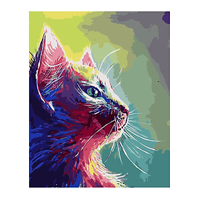 DIY Canvas Oil Painting Paint by Numbers Kit with Paintbrushes Acrylic Pigment Arts Craft Home Room Wall Decor for