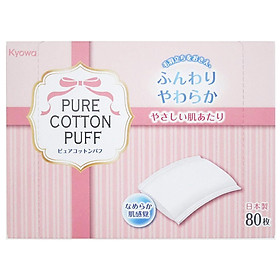 Bông Cotton Tẩy Trang Kyowa Shiko (80 Miếng)