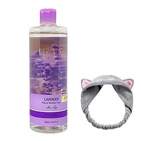 Nước hoa hồng kháng viêm, kiềm dầu và hỗ trợ làm giảm mụn Derladie Lavender Natural Moisture Toner 500ml + tặng 1 băng đô tai mèo xinh xắn ( màu ngẫu nhiên)