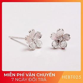 Bông hoa tai nữ bạc s925 cao cấp HEBT025 BH trọn đời