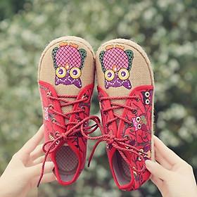 Giày Lười Nữ Họa Tiết Thổ Cẩm Thời Trang