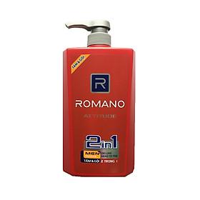 Bộ 2 chai Tắm Gội 2in1 Romano Attitude (650ml*2)+ Tặng 10 gói dầu gội Romano