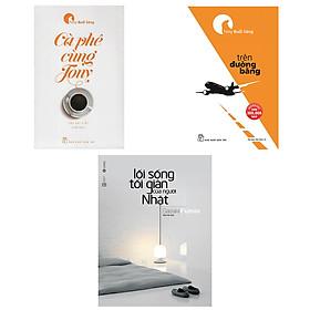 Combo sách lối sống tối giản người nhật, trên đường băng và cà phê cùng tony tặng 1 cuốn truyên song ngữ anh việt ngẫu nhiên
