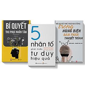 Combo 3 cuốn sách 5 nhân tố phát triển tư duy hiệu quả + Bí quyết thu phục nhân tâm + Bí quyết thành công trong hùng biện, đàm phán, thuyết trình