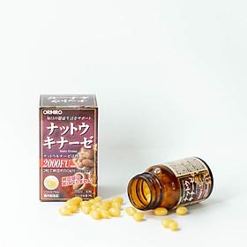 Viên uống Natto Kinase Orihiro Nhật Bản, tăng tuần hoàn máu,  ngăn ngừa tai biến, chống đột quỵ 60 viên/hộp - HÀNG CHÍNH HÃNG