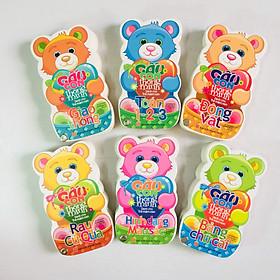 Combo 6 cuốn: Gấu Con Thông Minh: Toán 1 – 2 – 3 + Hình dạng, mầu sắc + Giao Thông + Rau Củ Quả + Bảng Chữ Cái