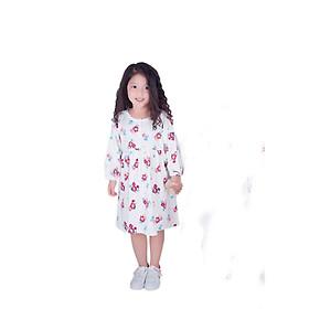 Váy bé gái hoa tím  hồng