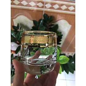 BỘ 6 LY UỐNG RƯỢU Whisky MẠ VÀNG CAO CẤP_200ML
