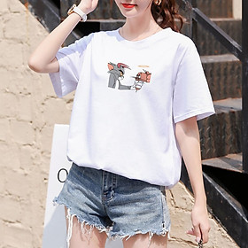 【Ready Stock】Fashion hot women's clonthing new short sleeve cotton T-Shirts HC017