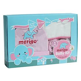 Bộ Chăm Sóc Trẻ Sơ Sinh Merigo Bông Bạch Tuyết TP-BABY08 - Trắng Phối Hồng