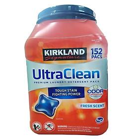 Thùng 152 viên giặt quần áo Ultra Clean kháng khuẩn - Kirkland Signature