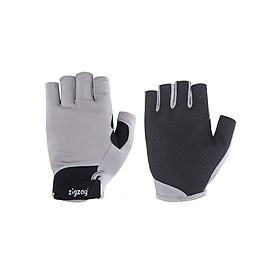 Găng tay thể thao chống nắng UPF50+ xám đen Zigzag GLV00411