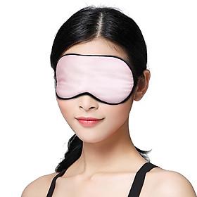 Seeking cotton silk eye mask silk silk goggles breathable comfortable sleep eye mask men and women lunch break travel supplies S20 pearl powder