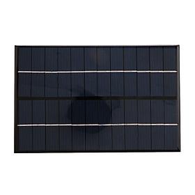 Bảng Sạc Pin Silicon Năng Lượng Mặt Trời (4.2W 12V) - Đen