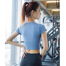 Áo Tập Thể Thao Nữ, Áo Tập Gym Yoga Chạy Bộ Croptop Ôm Body MISSHIN Bo Eo Tôn Dáng-6