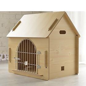 Nhà gỗ ngoài trời có cửa dành cho chó mèo