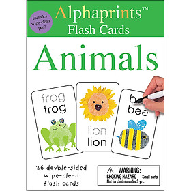 Alphaprints: Wipe Clean Flash Cards Animals