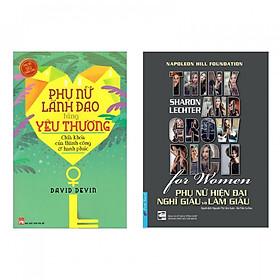 Combo sách làm người phụ nữ hiện đại : Phụ nữ lãnh đạo bằng yêu thương chìa khóa của thành công và hạnh phúc + Think and grow rich for women - Phụ nữ hiện đại nghĩ giàu làm giàu- Tặng kèm bookmark Happy Life