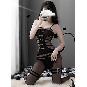Cosplay sexy - Đồ ngủ lưới bodysuit quyến rũ gợi cảm