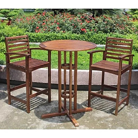 Bộ bàn sân vườn ngồi cao Juno Sofa (màu gỗ tự nhiên)