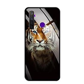 Ốp lưng kính cường lực cho điện thoại Realme 5 Pro - 0300 TIGER03 - Hàng Chính Hãng