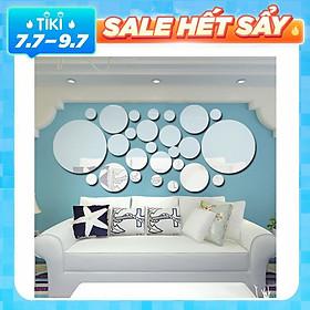 Miếng Gương Acrylic Dán Tường Trang Trí (26 Cái/Bộ)